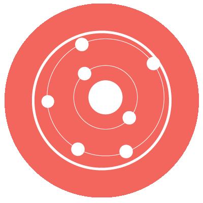 Chemistry Icon: an atom