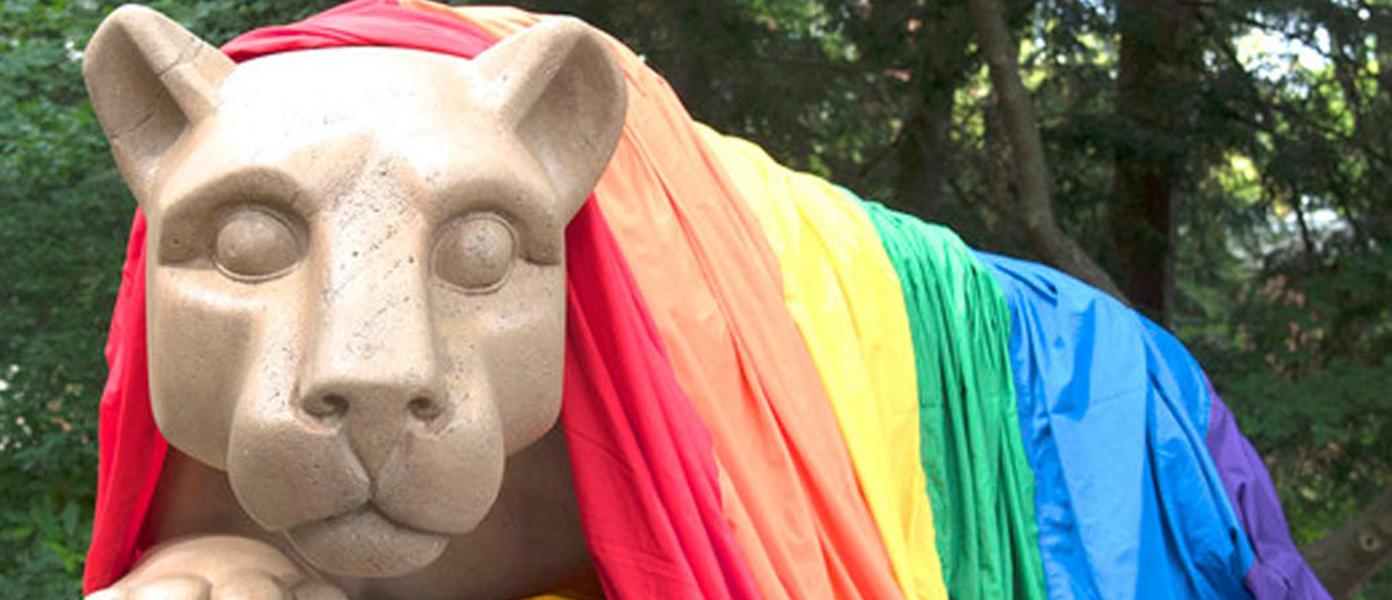 rainbow flag lion