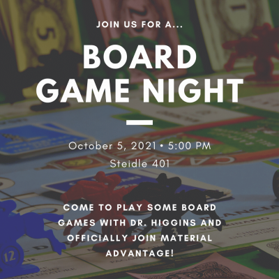 Board Game Night with Material Advantage