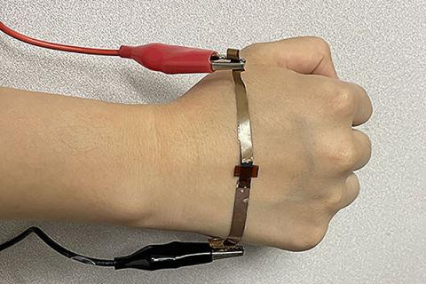 Graphene made with lasers for wearable health devices