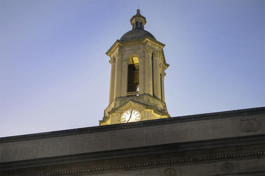 The bell tower of Old Main on the University Park campus. Image: Patrick Mansell
