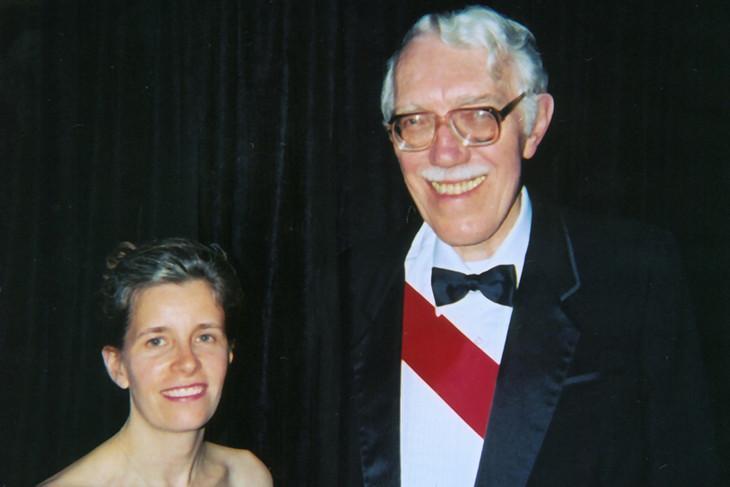 Susan Trolier-McKinstry,with renowned materials scientist Robert Newnham