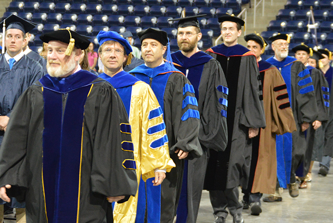 Faculty at graduation
