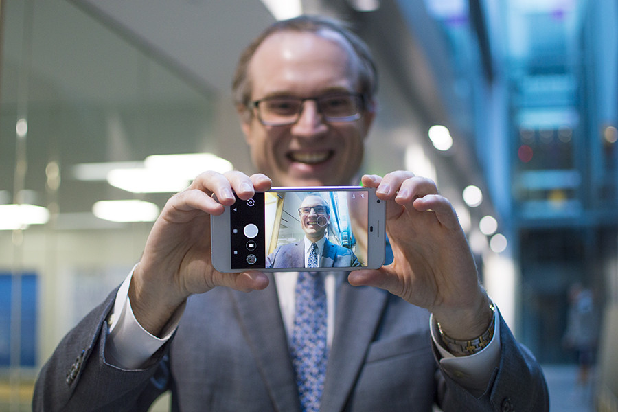 John Mauro taking a selfie